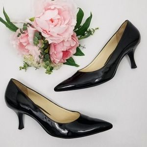Cole Haan Patent Leather Pointed Toe Pumps